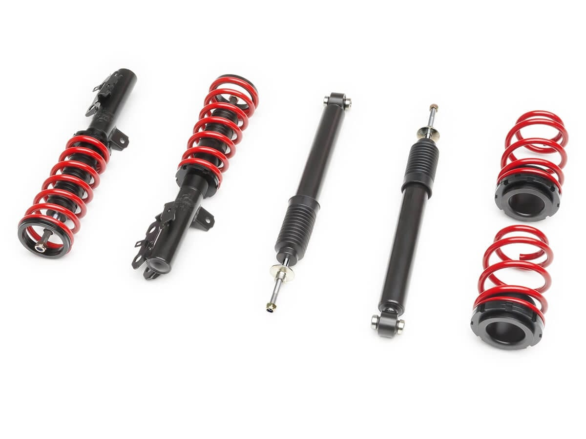 Fit 2011-2015 Scion tC Suspension Lowering Spring Red Front -1.5 // Rear -1.8 Drop
